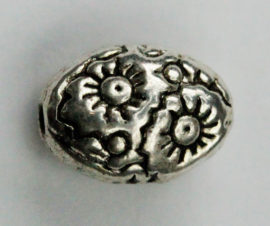 6 x 8mm Metal bead with pattern- Sold by the pack , 20 pieces per pack