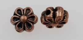 4 x 6 mm Flower beads with lines - Sold by the pack , 20 pieces per pack