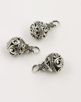 indonesian style pendant antique silver