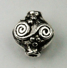 Metal bead with relief pattern - Sold by the pack , 10 pieces per pack