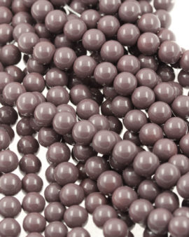 Imitation glass pearls smoky purple