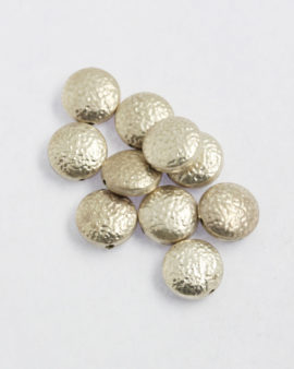flat round silver bead
