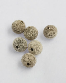 granulated silver bead 13mm