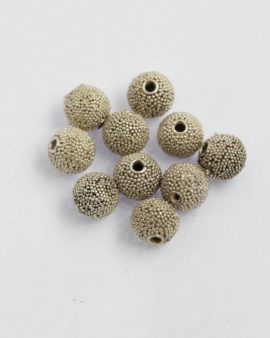 silver round granulated bead