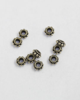 sterling silver flat spacer