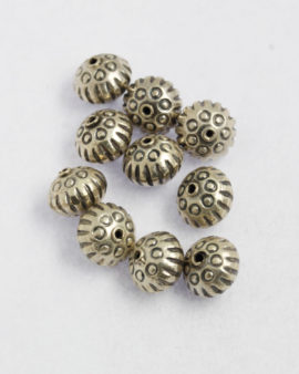 sterling round with circle bead
