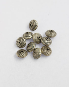 sterling flat bicone bead