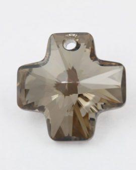 swarovski crystal cross metallic silver