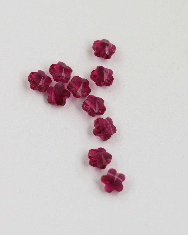 Swarovski crystal flower beads 8mm Fuschia
