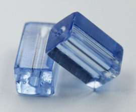 Rectangle glass beads - Sold per pack of 20