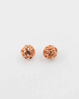Small filigree bead, 6mm. Sold per pack of 20