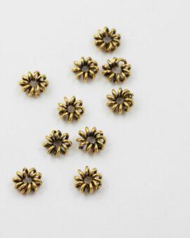 Spiral Wire Bead Antique gold