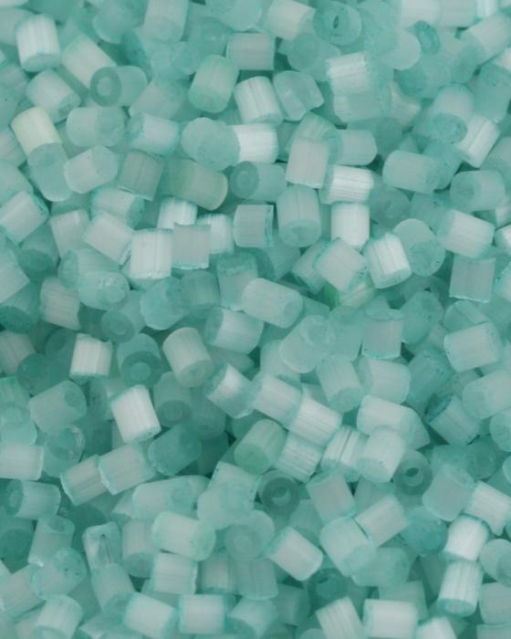 Fibre glass bugle beads 2mm blue