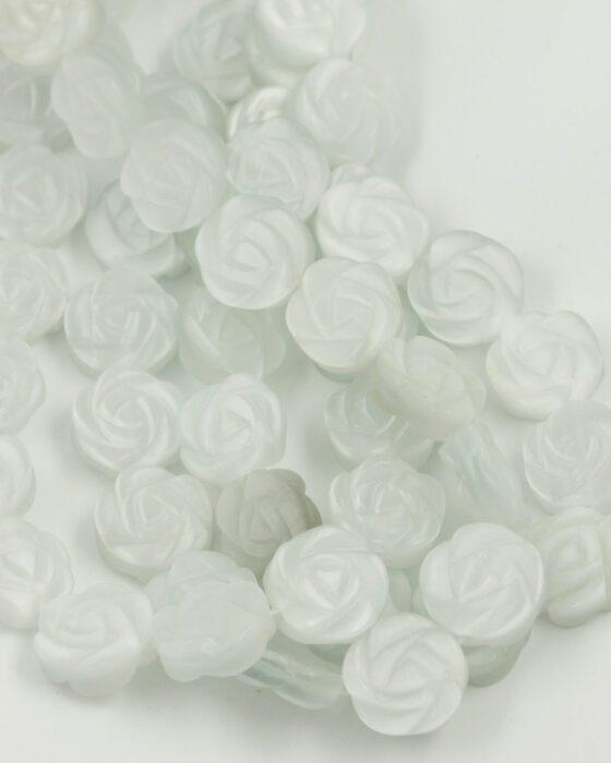 cat's eye rose 4x15mm white