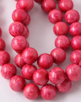 Round resin beads 16mm pink