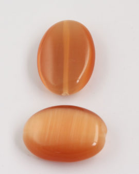 oval cat's eyes bead 40x28mm Apricot