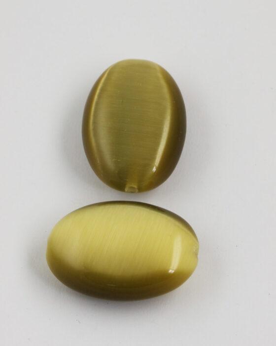 oval cat's eyes bead 40x28mm Bronze