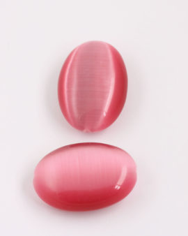 oval cat's eyes bead 40x28mm Pink