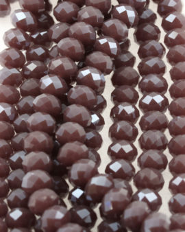 Bead, crystal faceted rondelle opaque , 9 x 12 mm. Sold per strand of approx. 36 beads