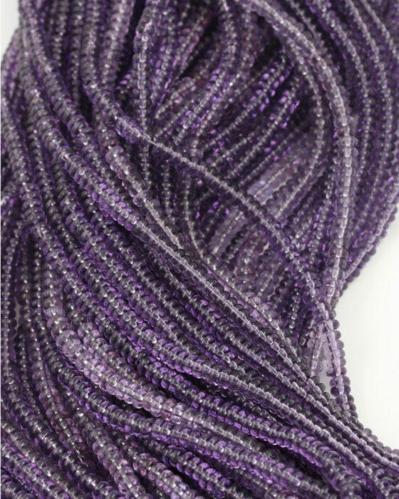 small disc shape beads 2x4mm purple transparent