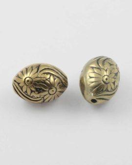 Oval acrylic plated bead gold NZ