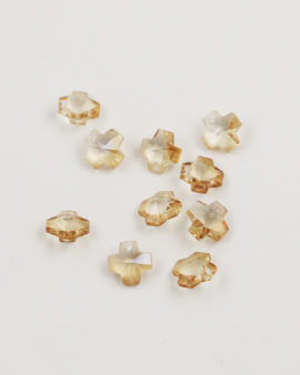 Crystal Cross Pendant 10mm light amber