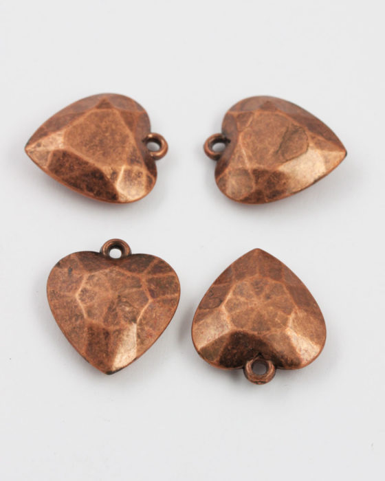 acrylic plated heart pendant antique copper