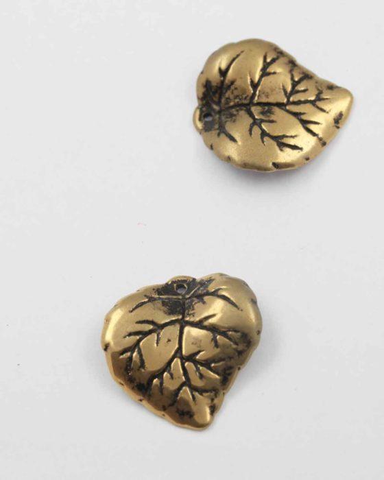 Leaf acrylic plated bead gold NZ