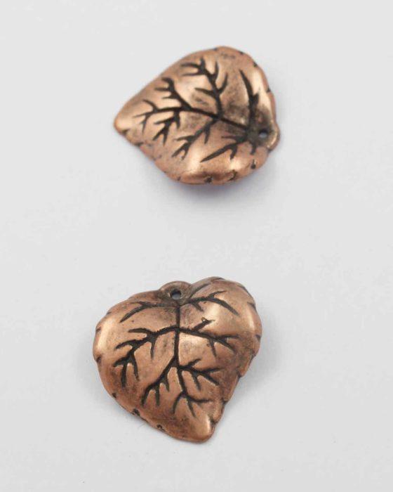 Leaf acrylic plated bead copper NZ