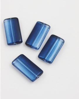 Resin rectangle 17x12mm Blue