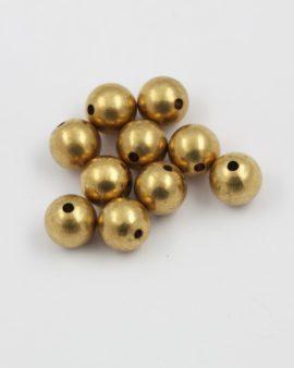 Brass round bead 12mm
