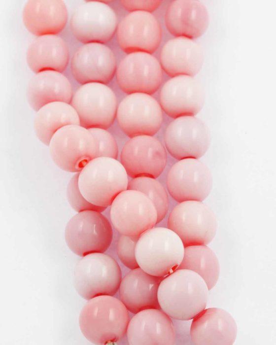 mouth blown glass pink opal