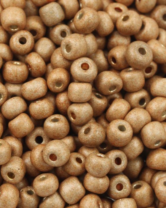 Seed Beads Matte Finish Size 6 Sandstone Yellow
