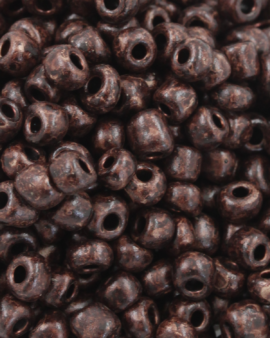Seed Beads Matte Finish Size 6 Brown Kelp