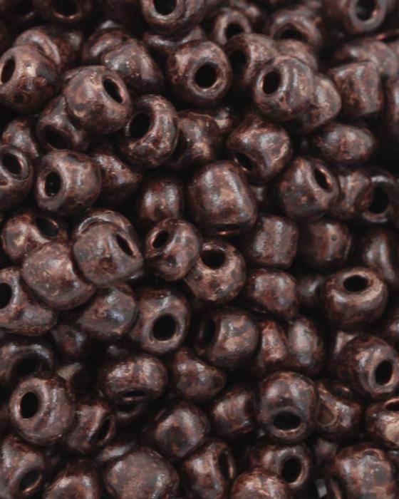 Seed Beads Matte Finish Size 6 Brown Kelp