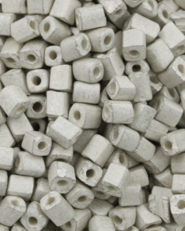 Cube Beads Matte Finish 3mm White Sand