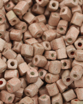 Cube Beads Matte Finish 3mm Sandstone Yellow