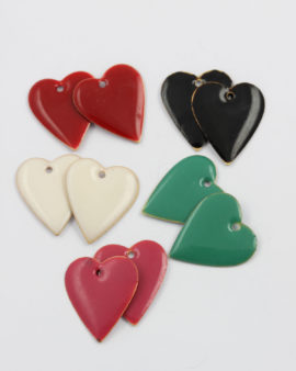 mix pack enamelled heart