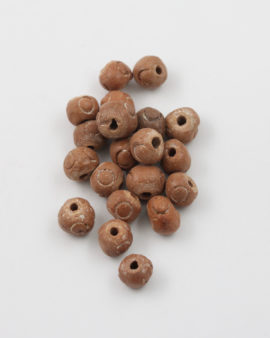 Ceramic Beads 10mm Light Brown