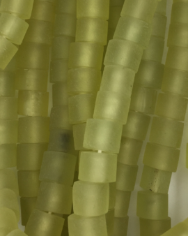 Resin Short Cylinder 6x11mm Lime