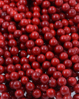 imitation coral beads red
