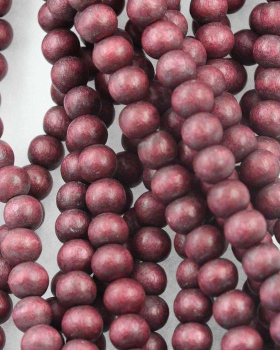 Wooden beads 8mm Marsala