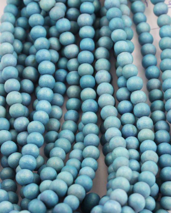 wooden beads 8mm artic blue