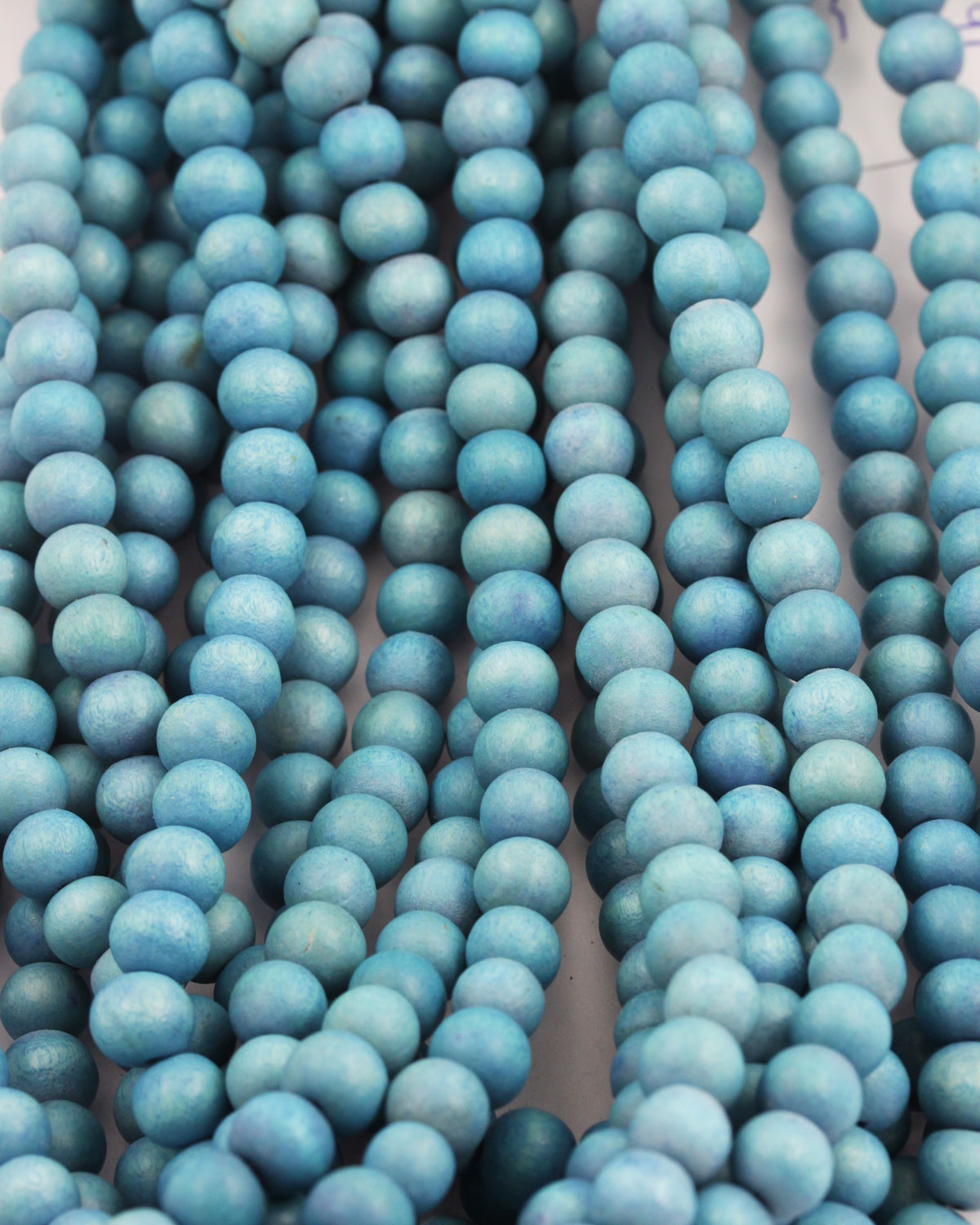170 Turquoise Blue with Speckles 10mm Round Acrylic Beads