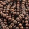 coconut wood 10mm dark brown