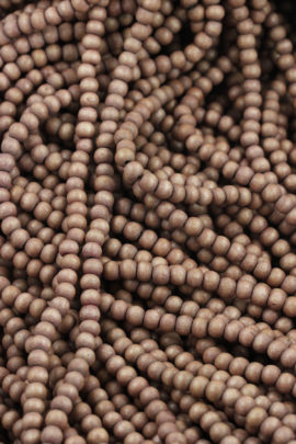 round wooden beads 6mm brown
