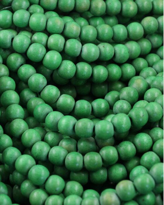 Wooden Beads 8mm Grass Green