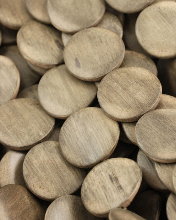 Greywood round twisted beads 30x5mm