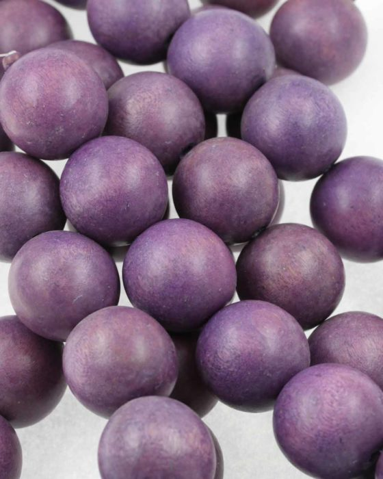 25mm wooden beads violet