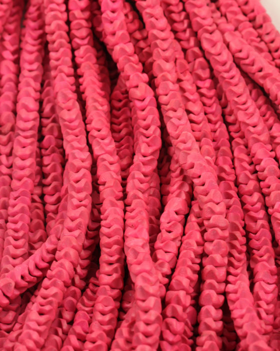Flower Shape Coconut Wood 8mm Pink